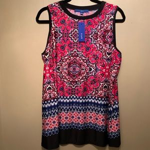 NWT APT 9 Magenta and Black Tank Top